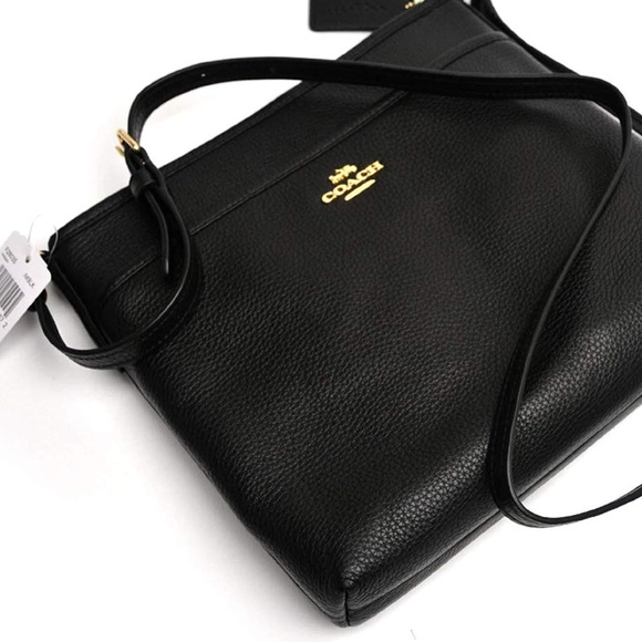 28806f69c2e NWT Coach Black Pebbled Leather File Crossbody Bag.  M_5c0f232b45c8b3d83ee66882